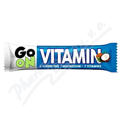 GO ON Vitaminová tyčinka kokos L-carnitin 50g