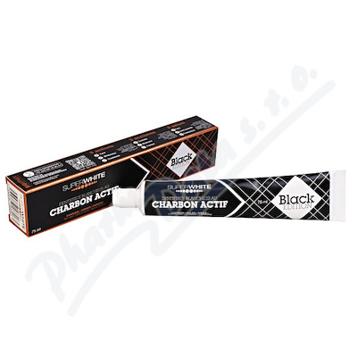 Bělící zub.pasta SUPERWHITE s akt.uhlím 75ml Black